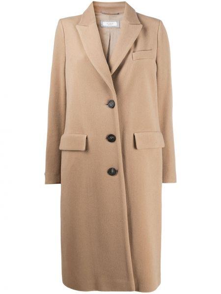 Płaszcz wełniany z długimi rękawami Peserico