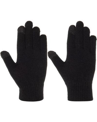 Акриловые вязаные черные перчатки Demix