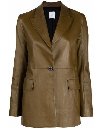 Кожаный пиджак - зеленый Rosetta Getty