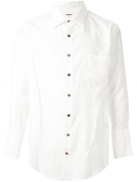 Biała koszula z długimi rękawami Sulvam