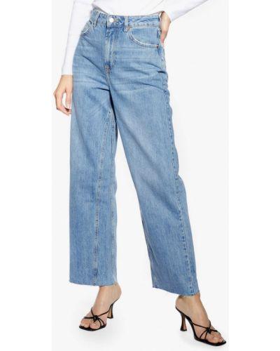 Широкие джинсы голубой расклешенные Topshop