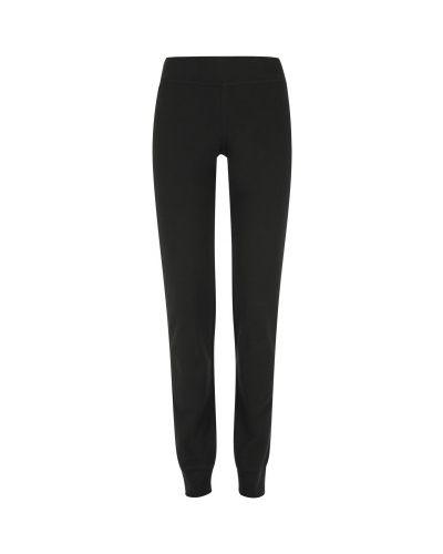 Прямые трикотажные черные брюки Gsd