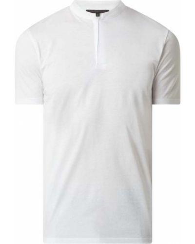 Biały t-shirt bawełniany krótki rękaw Drykorn