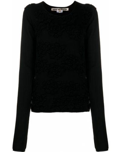 Прямой вязаный черный топ Comme Des Garçons