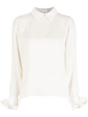 Белая блузка с воротником из вискозы Gloria Coelho