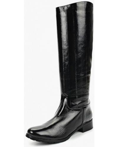 Кожаные сапоги осенние лаковые Enzo Logana