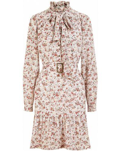 Расклешенное платье мини с поясом винтажное Laroom