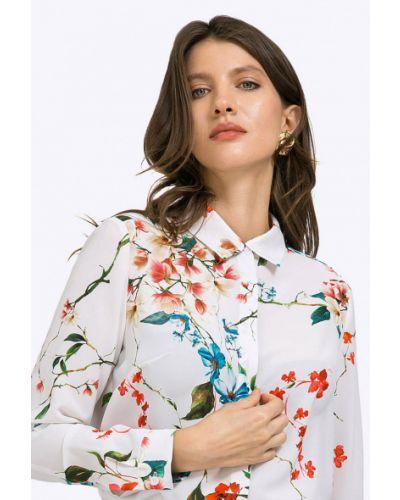 Блузка с длинным рукавом розовая с манжетами Emka