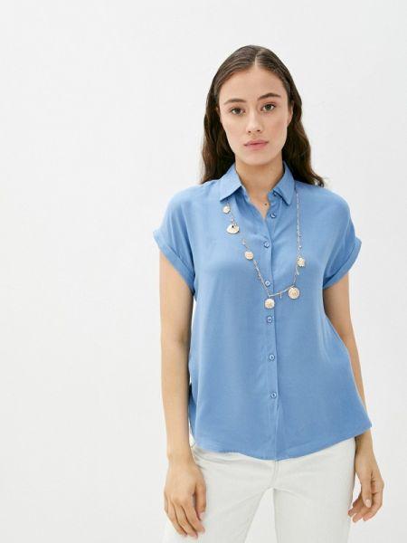 Синяя блузка с коротким рукавом с короткими рукавами Defacto
