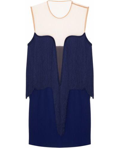 Платье мини трикотажное голубой Stella Mccartney