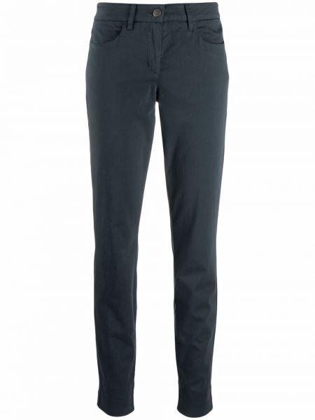 Синие брюки с заплатками Luisa Cerano