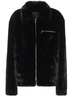 Черная куртка из искусственного меха Rta
