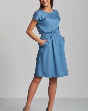 Джинсовое платье с бисером с поясом Jetty