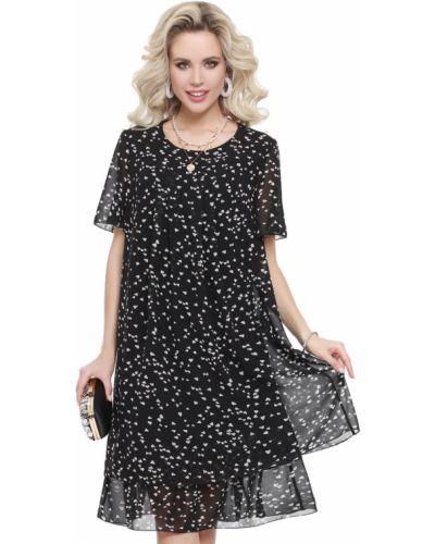 Свободное шифоновое платье А-силуэта с поясом Dstrend