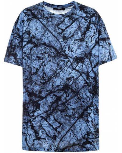 Niebieski t-shirt krótki rękaw Mr&mrs Italy