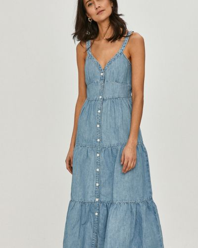 Niebieska sukienka midi rozkloszowana na co dzień Levi's