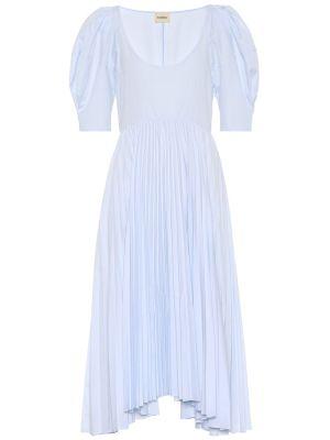Летнее платье из поплина синее Khaite