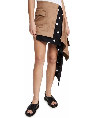 Spódnica asymetryczna khaki bawełniana Monse