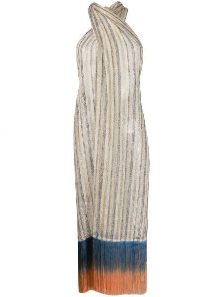 Платье миди с бахромой пляжное Emilio Pucci