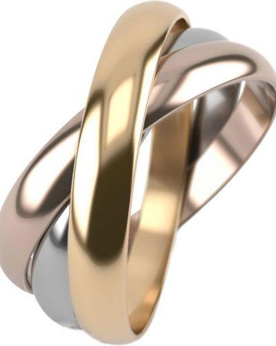 Золотистое кольцо золотое позолоченное Graf кольцов