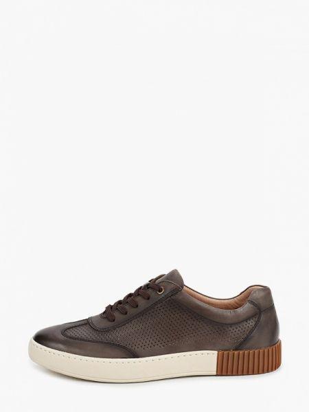 Кожаные коричневые кроссовки Guido Grozzi