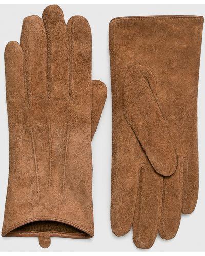 Коричневые кожаные перчатки Barts
