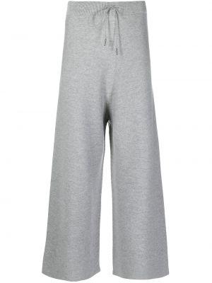 Свободные вязаные серые укороченные брюки Fabiana Filippi