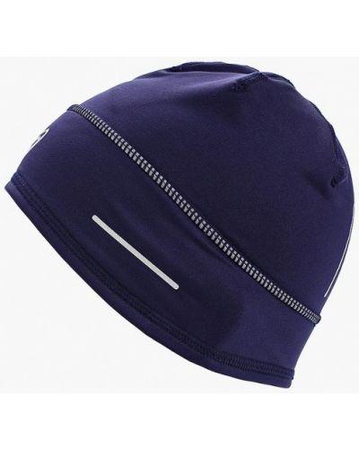 Синяя шапка осенняя Asics
