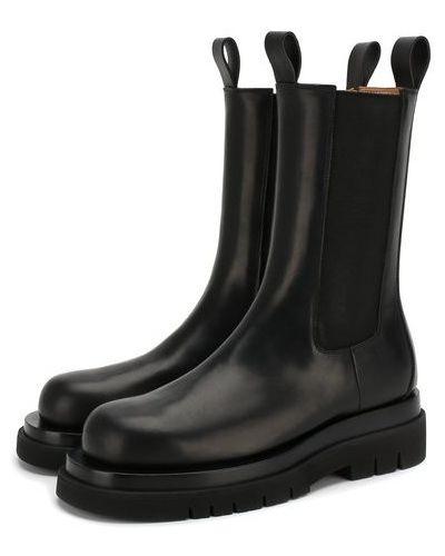 Кожаные ботинки челси с подкладкой со вставками Bottega Veneta