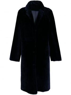 Черное пальто длинное Yves Salomon