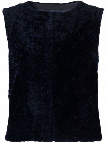 Синяя жилетка из овчины Simonetta Ravizza