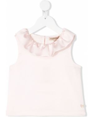 Розовая прямая футболка без рукавов Hucklebones London