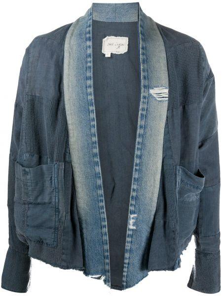Szare jeansy bawełniane z długimi rękawami Greg Lauren