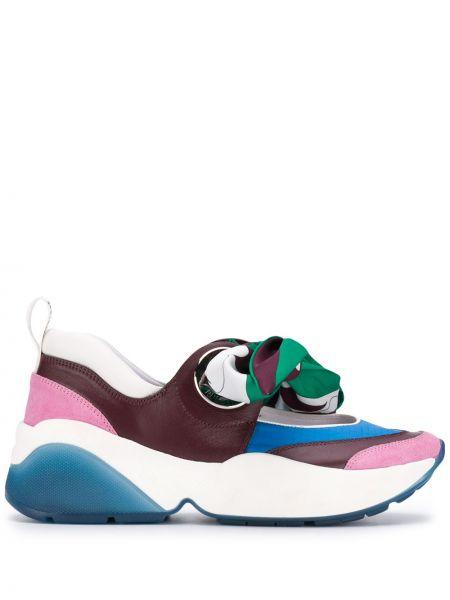 Sneakersy karmazynowy z nadrukiem Emilio Pucci