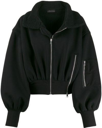 Черная длинная куртка с манжетами Barbara Bologna