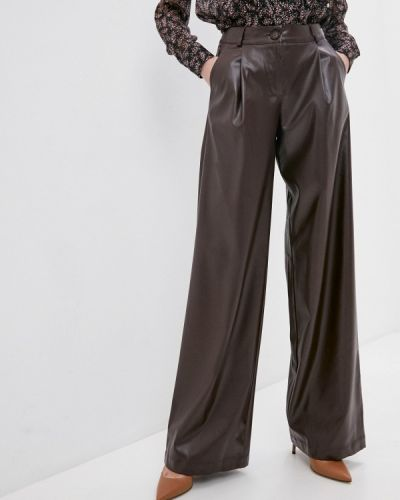 Кожаные коричневые брюки Irma Dressy