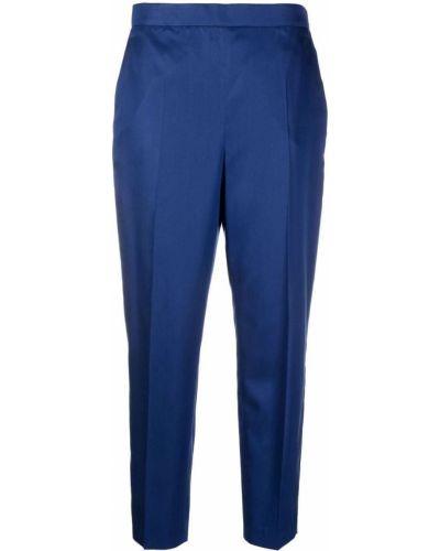 Синие укороченные брюки Salvatore Ferragamo