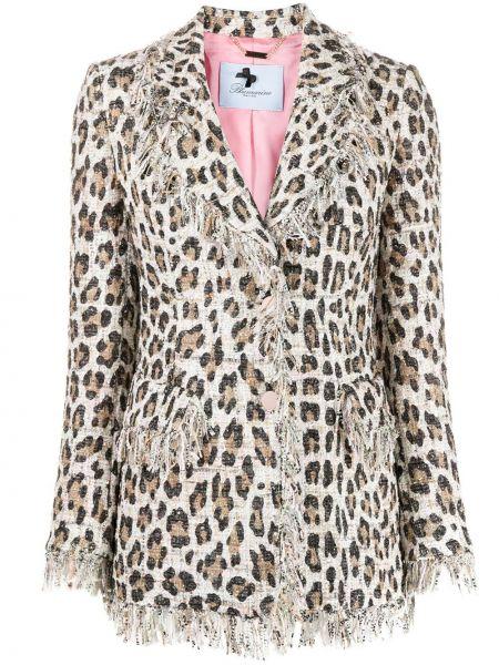 Однобортный пиджак с бахромой на пуговицах Blumarine