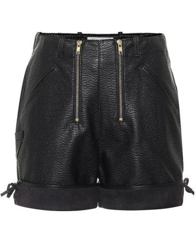 Кожаные черные шорты Philosophy Di Lorenzo Serafini