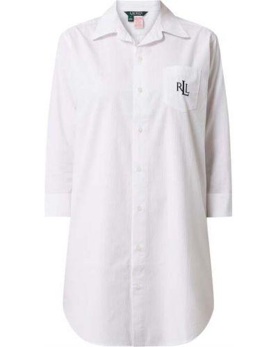 Koszula nocna bawełniana - biała Lauren Ralph Lauren