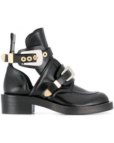 Кожаные ботинки с пряжкой Balenciaga