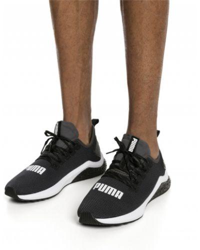Черные кроссовки беговые для бега на шнуровке Puma