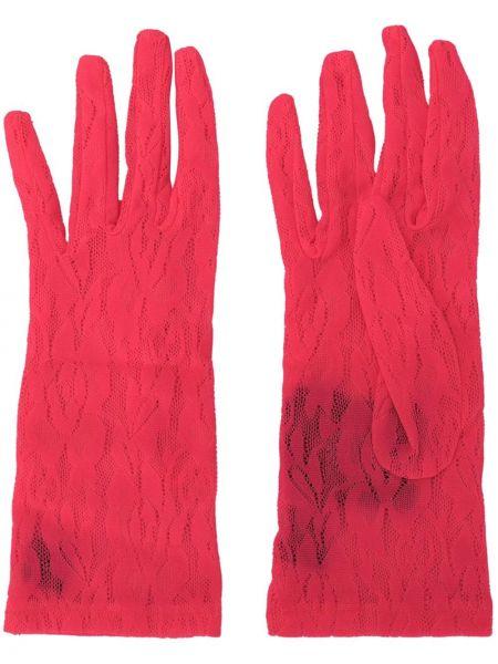Кружевные перчатки - розовые Gucci