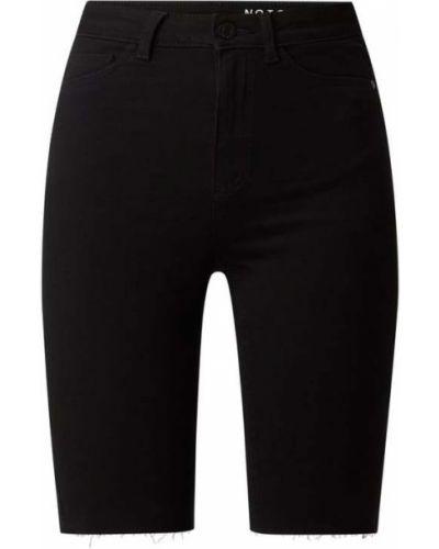 Czarne bermudy jeansowe bawełniane Noisy May