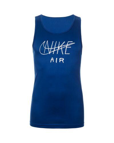 Спортивная майка прямая синий Nike