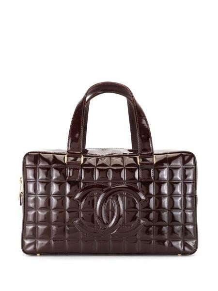 Красная сумка-тоут с вышивкой на молнии с карманами Chanel Pre-owned