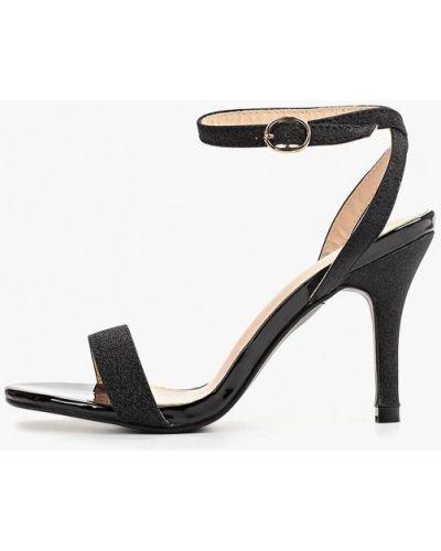 Босоножки черные на каблуке Style Shoes
