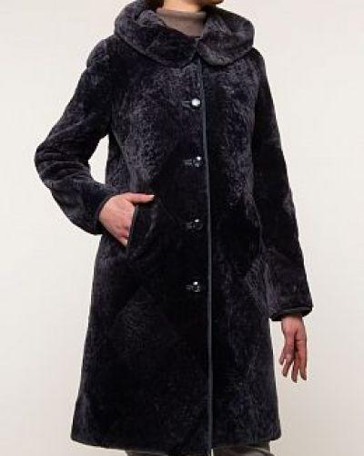Пальто из овчины - серое Panofics