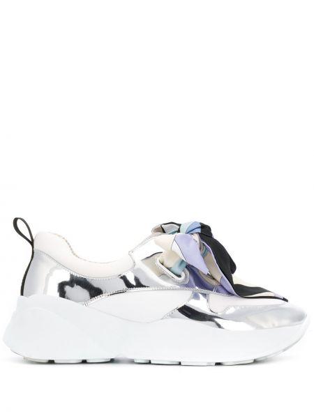 Skórzane sneakersy lato białe Emilio Pucci