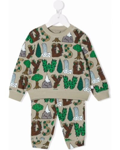 Dres bawełniany - zielony Stella Mccartney Kids